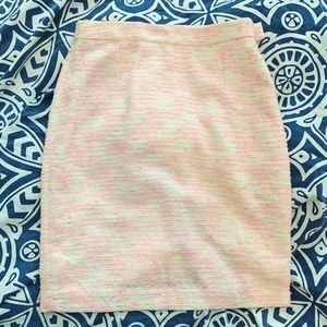 Lily Pulitzer pink metallic gold pencil skirt